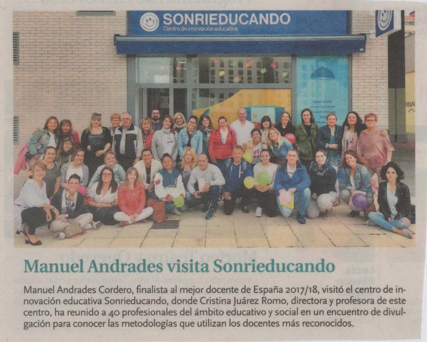 Manuel Andrades visita Sonrieducando